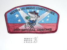 2001 National Jamboree JSP - Western Los Angeles County Council JSP, Maroon bdr
