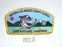 2001 National Jamboree JSP - Western Los Angeles County Council JSP, yellow bdr