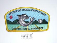 2001 National Jamboree JSP - Western Los Angeles County Council JSP, yellow bdr