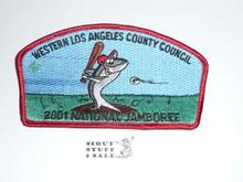 2001 National Jamboree JSP - Western Los Angeles County Council JSP, Red bdr