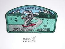 2001 National Jamboree JSP - Western Los Angeles County Council JSP, Green bdr