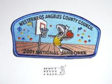 2001 National Jamboree JSP - Western Los Angeles County Council JSP, Blue bdr