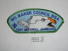 1997 National Jamboree Mt. Baker Council JSP Shoulder Patch - Scout