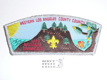 1993 National Jamboree JSP - Western Los Angeles County Council JSP, silver mylar bdr