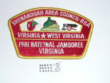 1981 National Jamboree JSP - Shenandoah Area Council Contingent