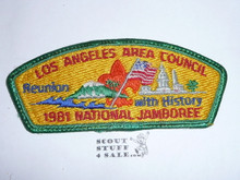 1981 National Jamboree JSP - Los Angeles Area Council, sewn