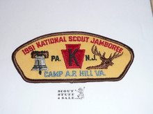 1981 National Jamboree JSP - Keystone Council Contingent