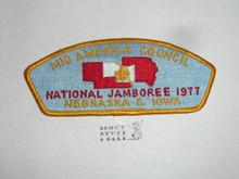 1977 National Jamboree Mid America Council JSP Shoulder Patch - Scout