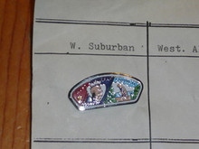 West Suburban Council CSP Shaped Pin - Scout