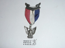 Eagle Scout Medal, Robbins 3, 1933-1954, STERLING SILVER