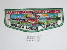 Order of the Arrow Lodge #228 Walika s Flap Patch - Boy Scout