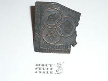 Theodore Roosevelt Council 1968 Expo Neckerchief Slide - Boy Scout