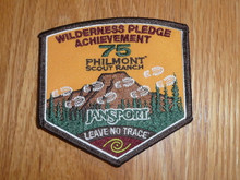 Special Philmont Scout Ranch 75th Anniversary Wilderness Pledge Patch
