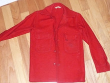 "Official Boy Scouts of America Red Wool Jacket - 25""L x 14""W"