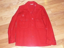 "Official Boy Scouts of America Red Wool Jacket  - Size 38 - 28""L x 17.5""W"