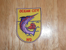 Ocean City MD  - Old Souvenir Travel Patch