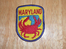 Maryland - Old Souvenir Travel Patch