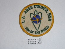 Los Angeles Area Council Rim of the World Patch, box soiling