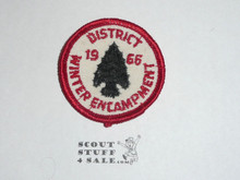 Los Angeles Area Council 1966 District Winter Encampment Patch - Boy Scout
