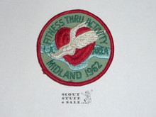 Los Angeles Area Council 1962 Midland District FitnessThru Activity Patch