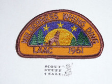 Los Angeles Area Council 1961 Wilderness Whing DIng Patch - Boy Scout