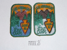 Los Angeles Area Council 1961 Lake Arrowhead Camp Patches - 2 varieties