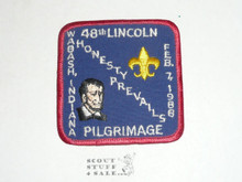 1988 (48th) Lincoln Pilgrimage Patch - Boy Scout