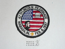 1987 (47th) Lincoln Pilgrimage Patch - Boy Scout