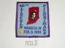 1986 (46th) Lincoln Pilgrimage Patch - Boy Scout