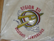 1960's Region 12 Delegate Conference Tee Shirt, New in Bag, Size 16 - Boy Scout