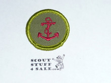 Seamanship - Type F - Rolled Edge Twill Merit Badge (1961-1968)
