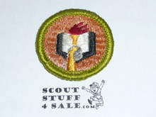 Scholarship - Type G - Fully Embroidered Cloth Back Merit Badge (1961-1971)