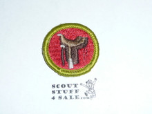 Horsemanship - Type G - Fully Embroidered Cloth Back Merit Badge (1961-1971)
