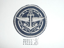 Senior Scout / Explorer Advisor Patch on Blue (SS-07 / EX-10), CAW Design
