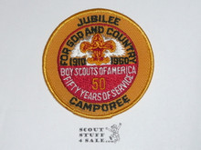 1960 National Jamboree / 50th Anniversary Twill Jubilee Camporee Patch