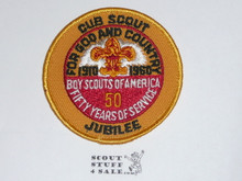 1960 National Jamboree / 50th Anniversary Twill Cub Scout Jubilee Patch