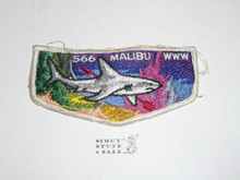 Order of the Arrow Lodge #566 Malibu s1 Flap Patch from 1973, sewn