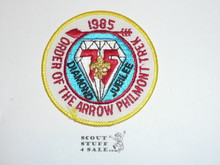 Philmont Scout Ranch, 1985 Seventy Fifth BSA Anniversary Order of the Arrow Philmont Trek Patch, Yellow Border