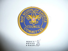 Council Committee Patch (CC3), 1970-1972