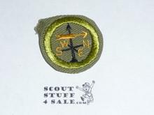 Weather - Type E - Khaki Crimped Merit Badge (1947-1960)