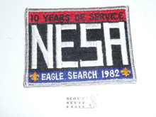 National Eagle Scout Association, 10th Anniversary, 1982 Eagle Scout Search Patch, Silver mylar Bdr