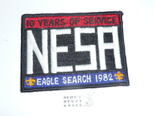 National Eagle Scout Association, 10th Anniversary, 1982 Eagle Scout Search Patch, Black bdr