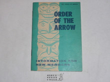 Order of the Arrow Information For New Members, 1969, 4-69 Printing