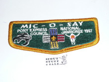Tribe of Mic-O-Say (Pony Express Council) - 1997 National Jamboree Flap Patch