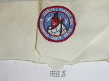 Charles L. Sommers Wilderness Canoe Base Neckerchief, BSA at top of patch