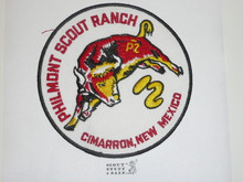 Philmont Scout Ranch, White Twill Round Bull Jacket Patch