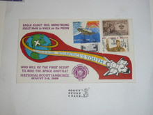 1989 National Jamboree FDC Envelope with Jamboree Cancellation and BSA Stamps