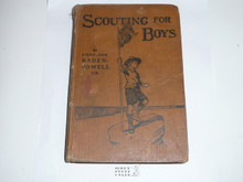 1910 Scouting for Boys, By Lieut.-Gen. Baden-Powell, Third edition, Third Printing, Hardbound, some wear to covers