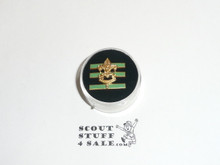 Junior Assistant Scoutmaster Hat Pin, Pointed Crown, bright green bars, Post with spin lock