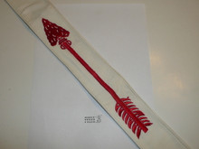 """1950's Embroidered On Twill Ordeal Order of the Arrow Sash, Heavy Twill and Edge Embroidery, Best Quality, New or Like New Condition, 27"""""""